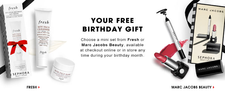 How to get Sephora birthday gifts (FRESH or Marc Jacob) and ...