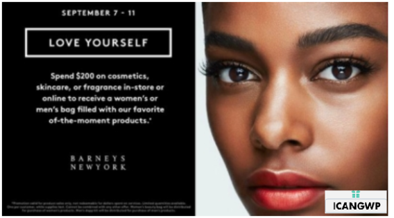Barneys New York Love Yourself Event is coming - see more gift with purchase at IcanGWP beauty blog