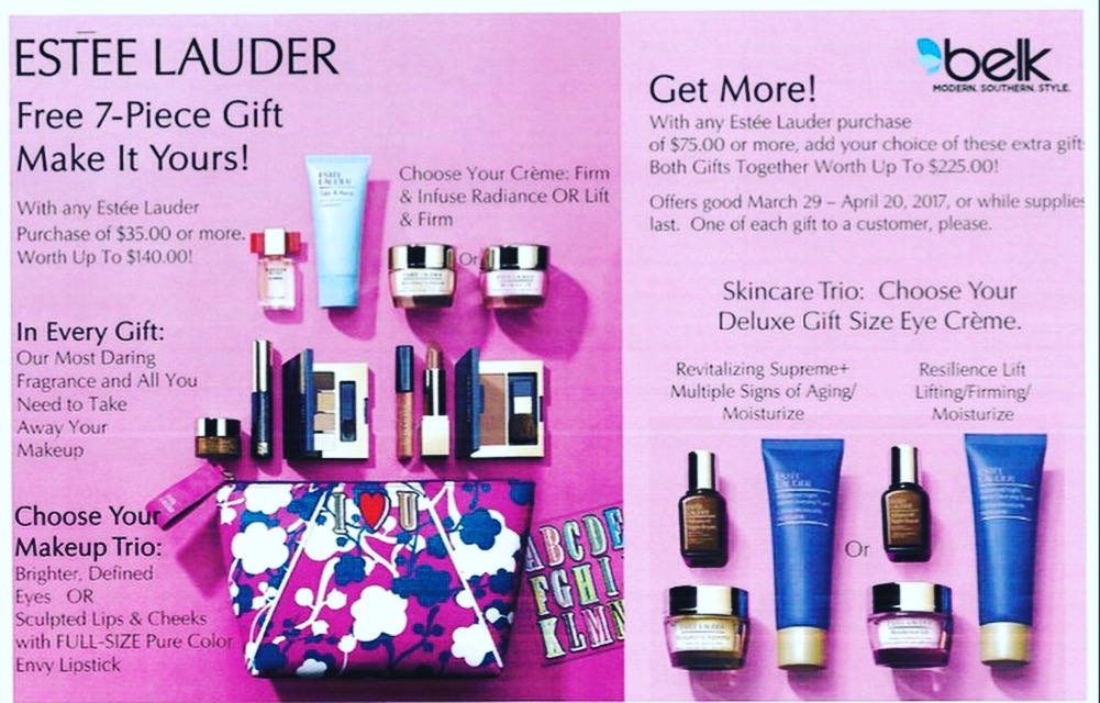 belk estee lauder free gift with purchase 2018