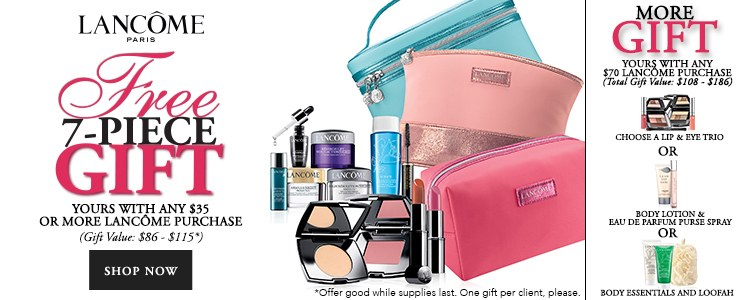 Dillard's Lancome gift with purchase and Boscov's Spring Lancome ...
