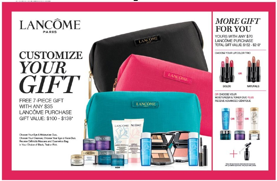 Lancome Free Gift With Purchase Dillards October 2017 – Gift Ftempo