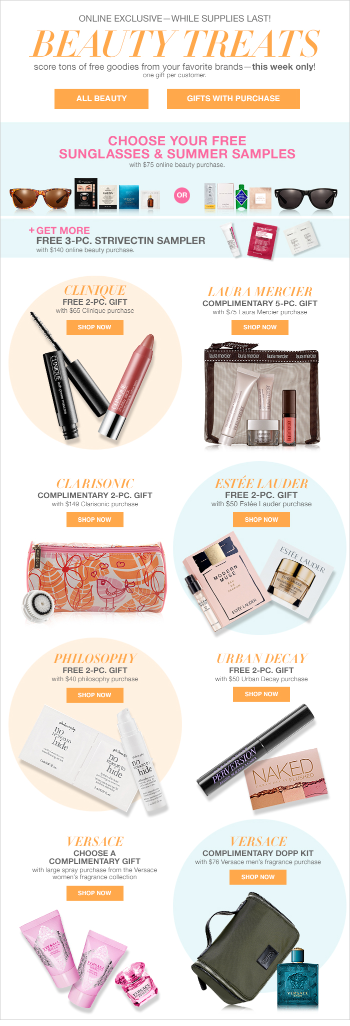 Clinique Bonus Time and Clinique Free Gift with Purchase @ Multiple Stores (May 2015 – June 2015)