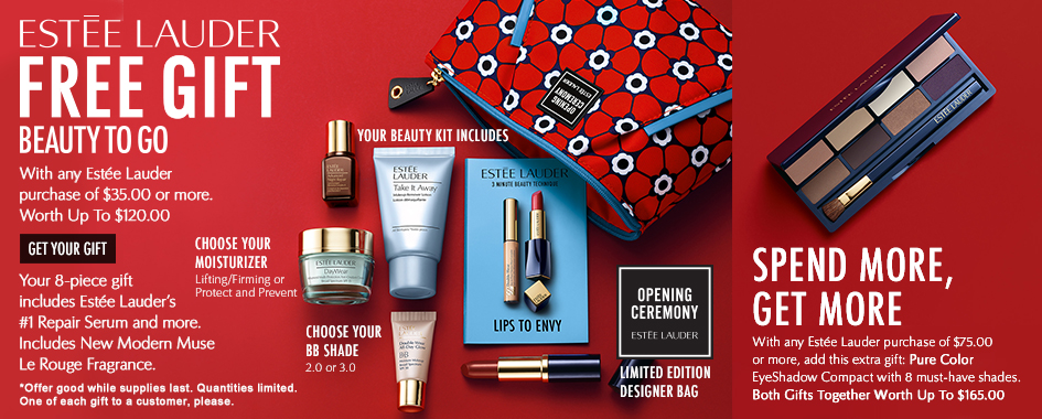 8pc Estee Lauder Free Gift | Dillard's | August 2015 – IcanGWP ...