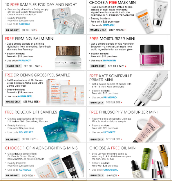 Sephora makes shopping for beauty products a breeze with free shipping and returns, special selections of free sample-size products with each purchase, and value sets of /5(17).