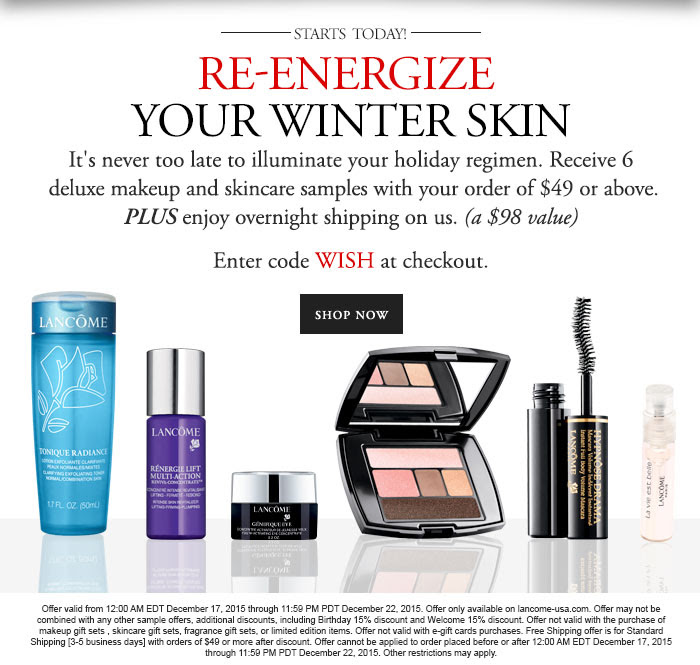 NEW 3 Lancome Gift With Purchase at Bloomingdale's, Belk and ...