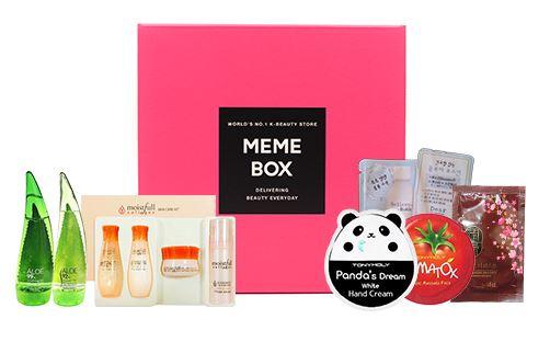 memebox 01 2016 mini k beauty box 2 items
