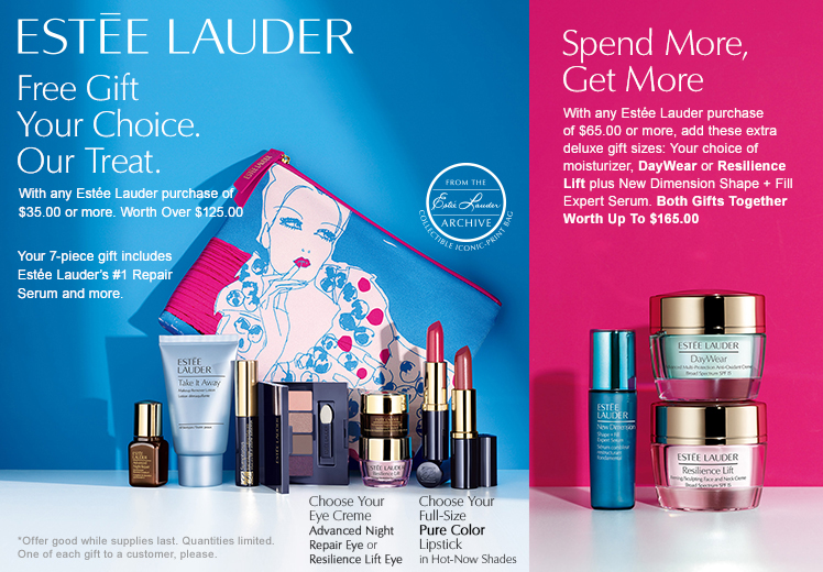 Boscov's $125 Worth Estee Lauder Gift and New Sample Bags ...