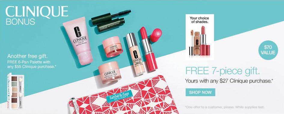 NEW* Spring 6pc Lancome Gift & 7pc Clinique Bonus @ Dillard's (FEB ...