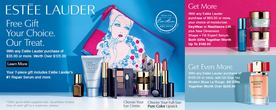 Clinique Bonus at Lord and Taylor | 7-piece Estee Lauder Gift at ...