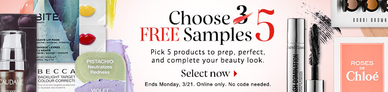 sephora 03 15 2016 pick 5 free samples w any order