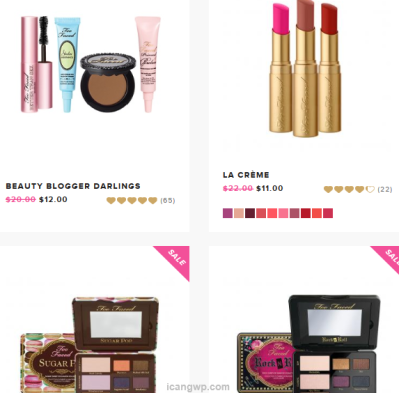 Elf 83pc free gift, Too Faced Makeup Sale, New Sample Bags from ...