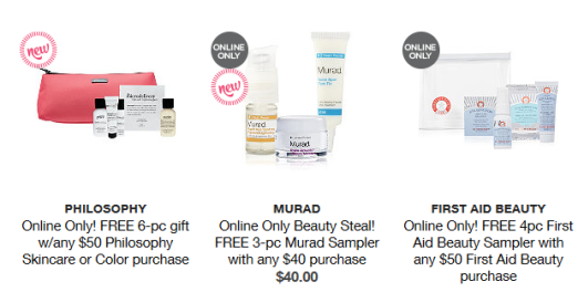 Gifts with Purchase - Ulta Beauty 2016-04