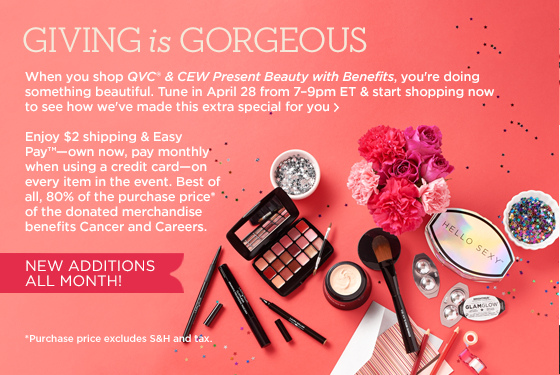 qvc BeautyWithBenefits apr 27 only 2 shipping