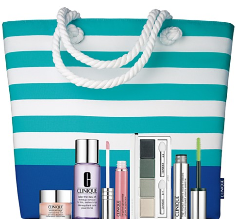 BIG 4: Clinique Summer Set 2016 Purchase with Purchase, Lancome Beauty Box 2016, Estee Lauder Mother's Day Gift Sets 2016 and Elizabeth Arden Mother's Day Tote 2016