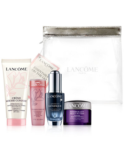 Lancome fans it's bonus time at Macy's. Spend $35 get the free 7 piece set here: Bonus Offer See more details below. NEW! FREE 7-Pc. Gift with $35 Lancôme purchase - choose 6 beauty favorites & a.