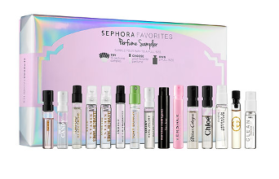 Sephroa Perfume Sampler Sephora Favorites with free full-size voucher - see more gift with purchase at I can gwp beauty blog