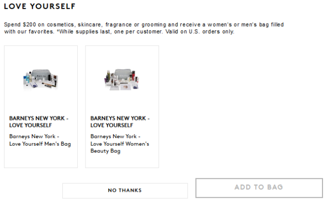 Barneys New York Love Yourself Women's Beauty Bag or men's bag 2016 - see more at I can GWP beauty blog.png