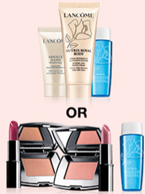 Bon Ton Lancome 7pc step up gift Fall 2016 - see more Lancome gift with purchase at I can GWP beauty blog.png