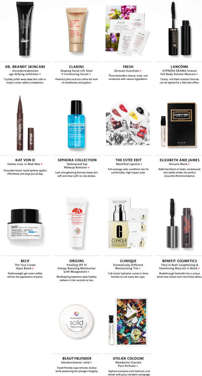 Sephora Beauty Insider APPRECIATION sample bag 2016 4 - I can GWP Beauty blog.jpg