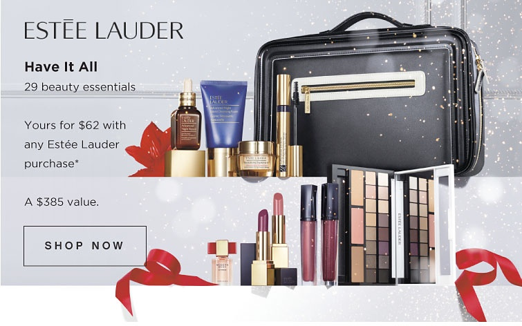 HOT Estee Lauder Holiday Blockbuster 2016 only $56 – $62 Plus 7pc Estee Lauder gifts, Estee Lauder Advent Calendar 2016 and Estee Lauder Portfolio 2016 in US and Canada