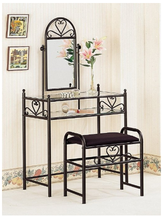 Amazon.com  Coaster Vanity Table Set in Black  Kitchen   Dining.png