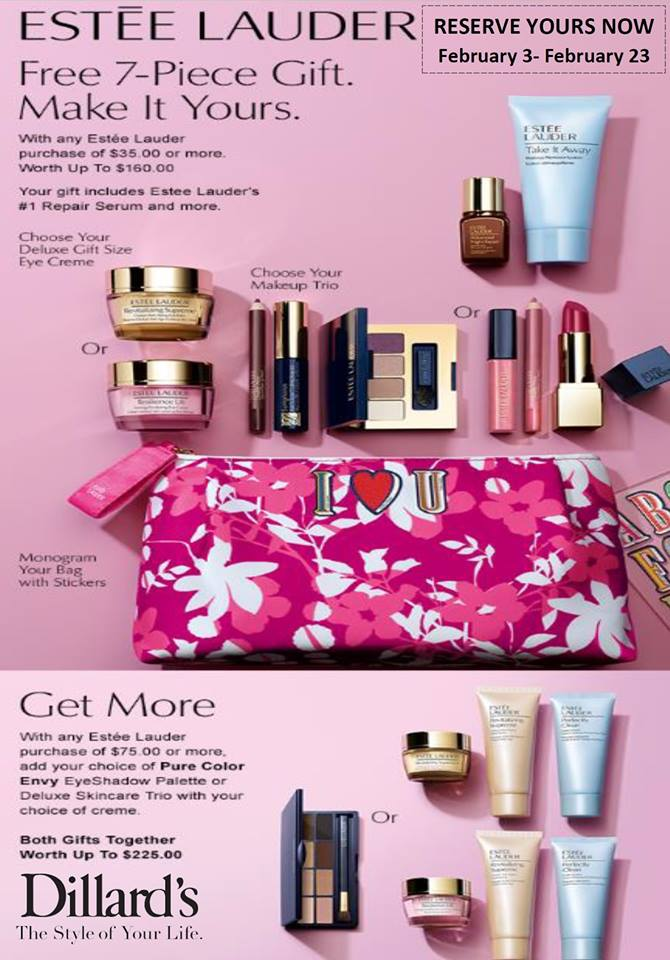 NEXT gift with purchase Clinique, Estee Lauder and Lancome at ...