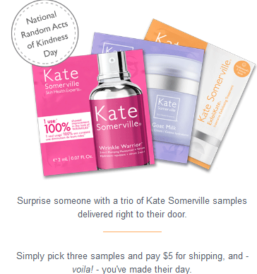 Kate Somerville  Celebrate Random Acts of Kindness Day  3 pack sample feb 2017.png