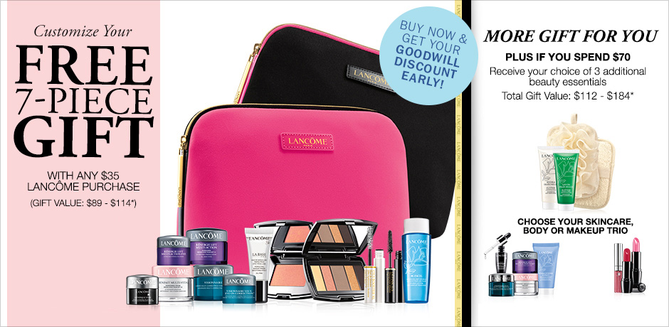 LANCOME Spring Gift at Bon Ton, Beauty Expert Sample Bag, Walmart ...
