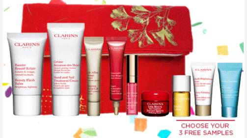 clarins Celebrate the 10th birthday of Clarins.com with 10 party perfect Gifts .png
