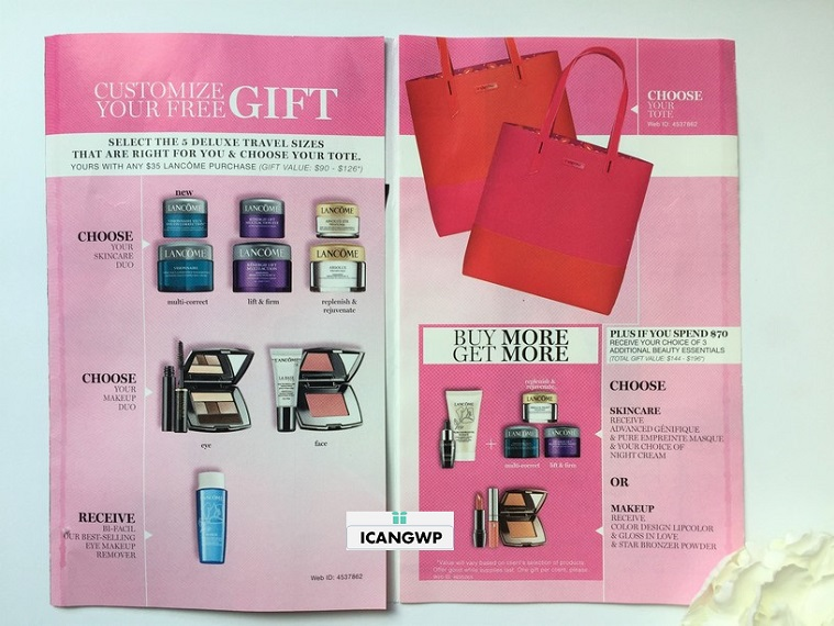 How to Get Lancome Spring Gift 6-piece with $35 and 10% off All ...