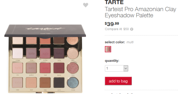 Tarteist Pro Amazonian Clay Eyeshadow Palette Makeup T.J.Maxx apr 2017 see more at icangwp blog