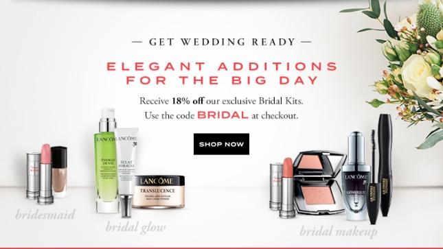 lancome 18% off bridal may 2017 see more at icangwp blog