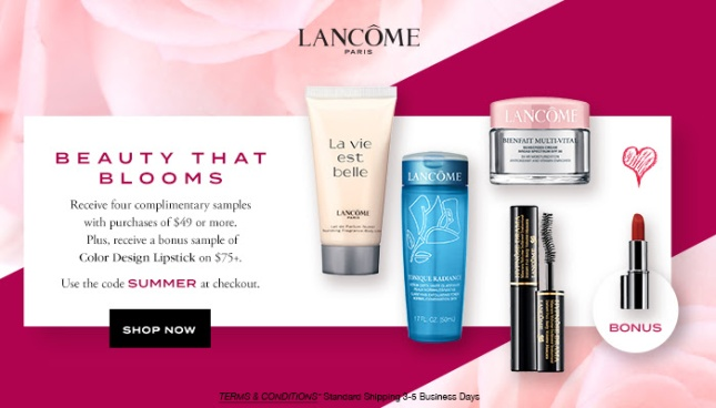 lancome 4pc SUMMER gift with purchase may 2017 see more at icangwp blog