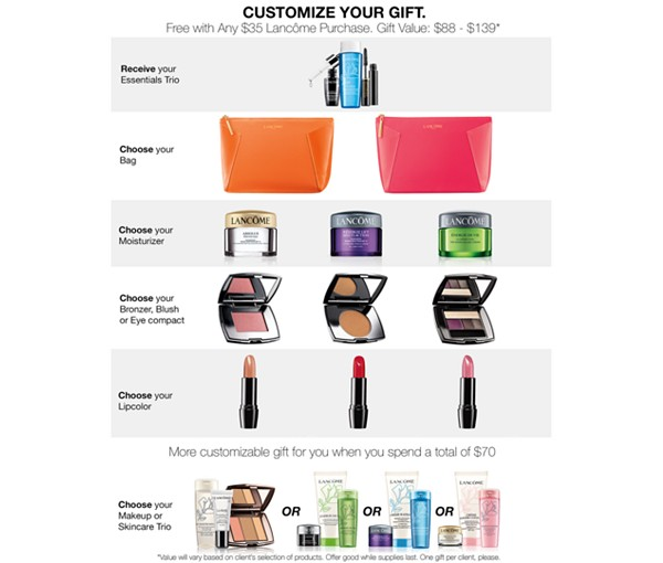 Macy's: Lancome 8pc Gift with $35 Purchase ($139 value) June 2017 ...