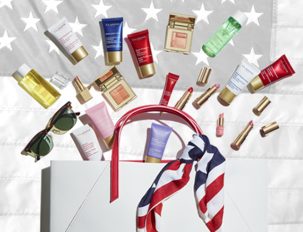 clarins 4th of july Gift with Purchase  Free Shipping and Samples see more at icangwp blog.jpg