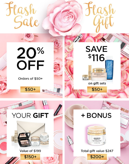 lancome ca Flash Sale FLash Gift