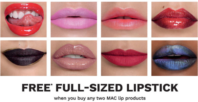 mac free full size lipstick jun 2017