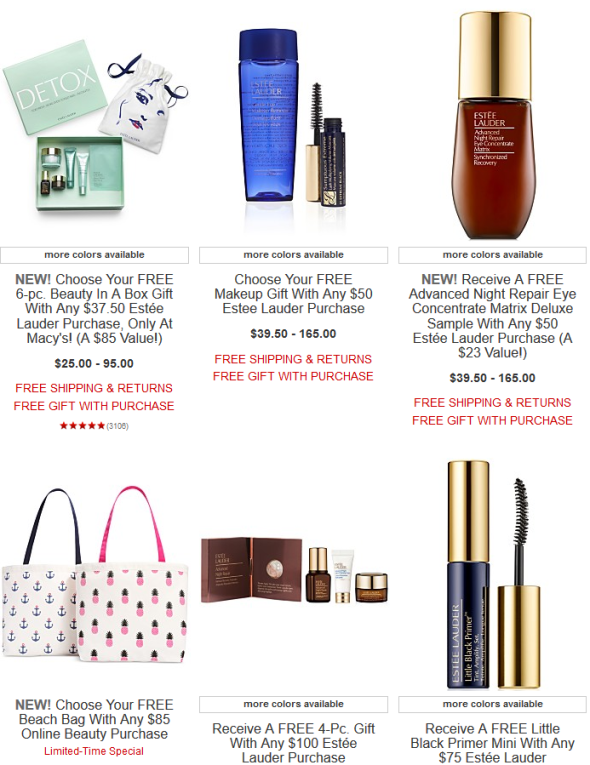 macy's Estée Lauder Beauty Gift With Purchase jun 2017 see more at icangwp blog