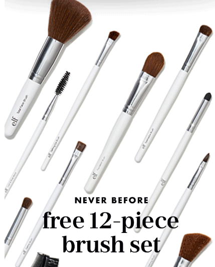 Elf Cosmetics Never before FREE 12 pc brush set jul 2017 see more at icangwp blog