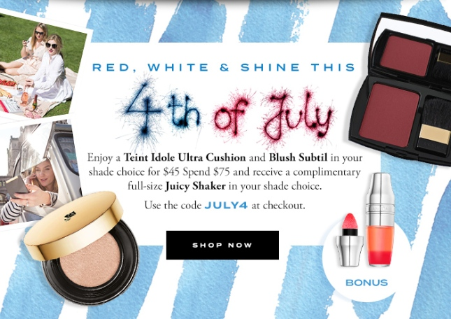 lancome 4th of july gift