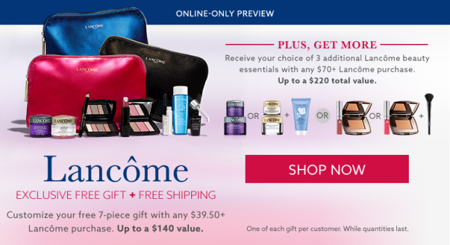 lord and taylor lancome gift 7pc w 3950 aug 2017 see more at icangwp blog