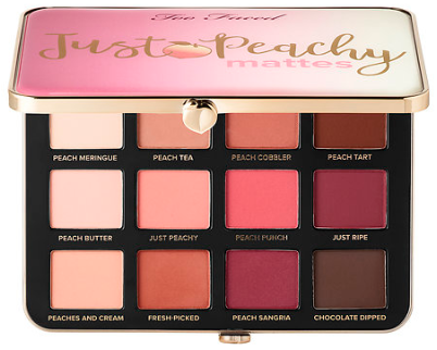sephora too faced Just Peachy Velvet Matte Eye Shadow Palette – Peaches and Cream Collection Too Faced Sephora aug 2017