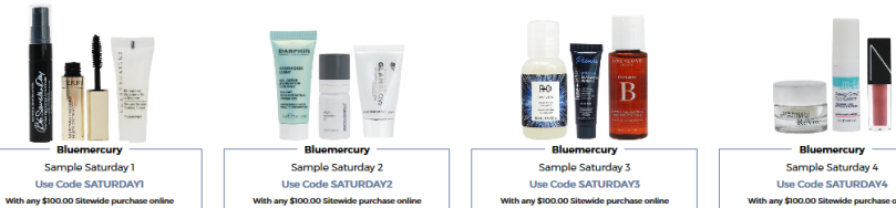 Bluemercury coupon  Beauty Treats on Us oct 2017 saturday.png