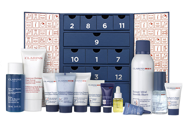 Buy ClarinsMen 12 Days Of Christmas Beauty Advent Calendar John Lewis