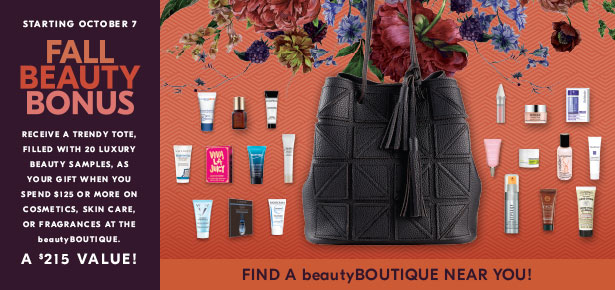 beautyboutique Fall GWP 20pc w 125 see more at icangwp blog