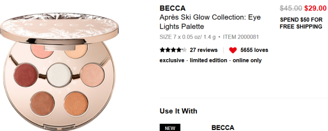 Après Ski Glow Collection Eye Lights Palette BECCA Sephora