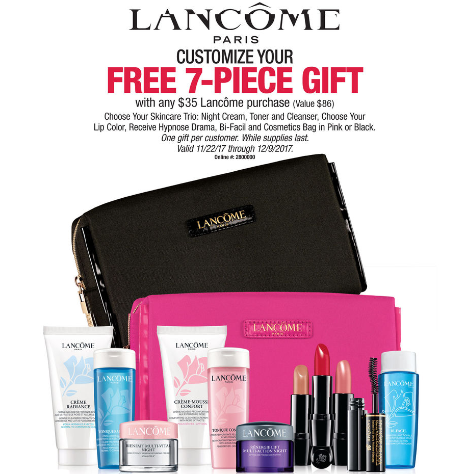 Next Clinique, Estee Lauder, Lancome Gift with Purchase! – IcanGWP ...