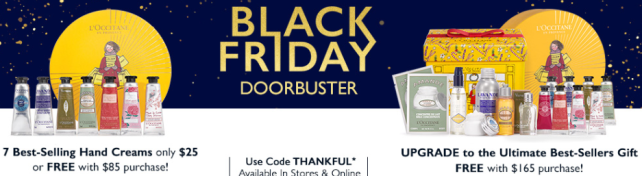 loccitane black friday doorbusters 2017 THANKFUL Holiday 2017