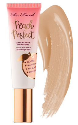 Peach Perfect Comfort Matte Foundation – Peaches and Cream Collection Too Faced Sephora