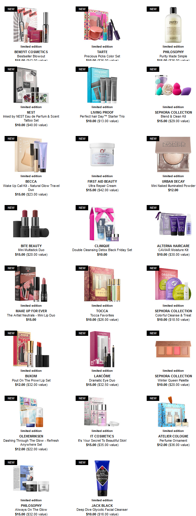 Sephora black friday 2017 15 and under sets see more at icangwp beauty blog